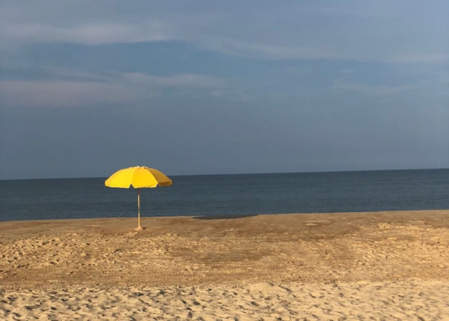 Outer Banks Yellow Umbrella