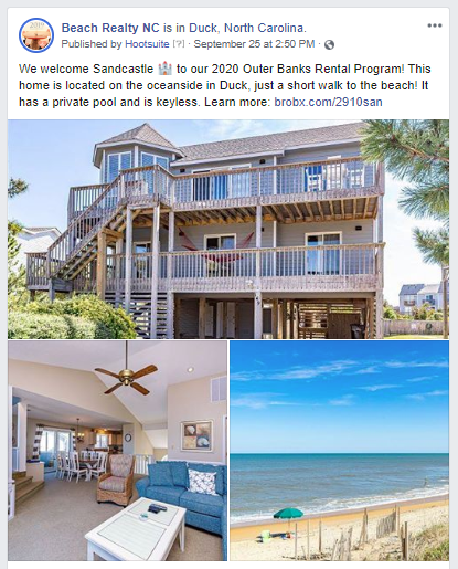 Outer Banks Vacation Rental on Social Media