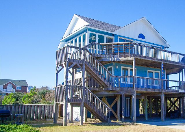 Mermaid's Palace Semi-oceanfront Corolla Rental